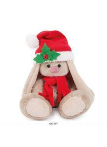 Игрушка мягконабивная Зайка Ми в красном колпачке и шарфе (15 см)