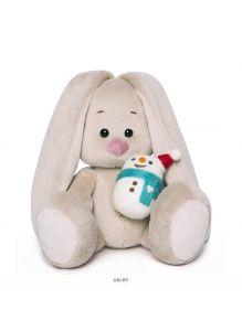 Игрушка мягконабивная Зайка Ми со снеговичком (15 см)