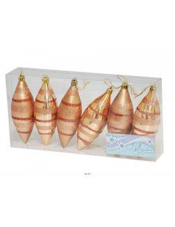 Набор украшений «Капли», 12 см, 6 штук (6348)