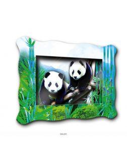 Две панды - папертоль (объемная картина)