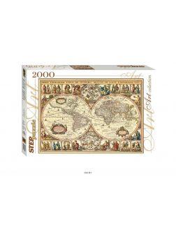 Пазл 2000 элементов «Историческая карта мира» (step puzzle)