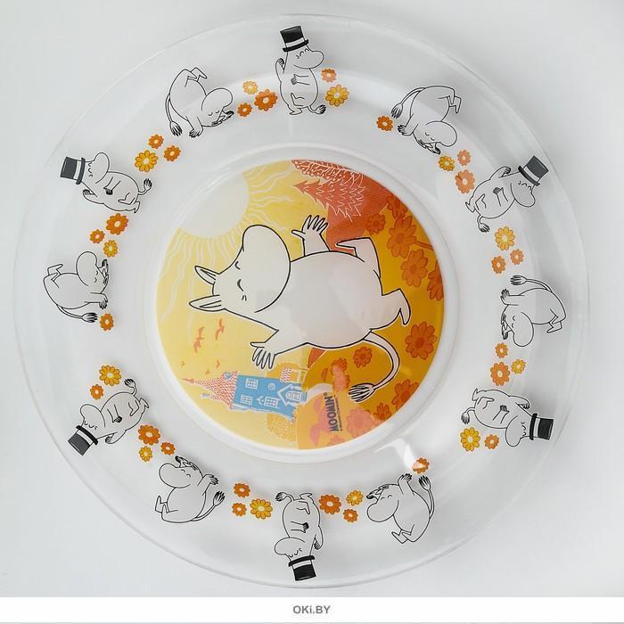 НАБОР ДЛЯ ЗАВТРАКА стеклянный детский «Муми-тролли» (3 предмета, арт. НДЗМуми-т, код 031870)