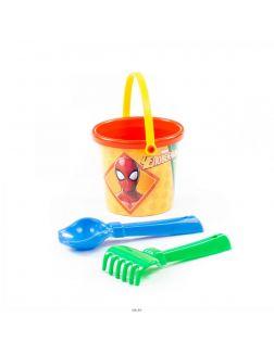 Набор Marvel «Человек-Паук» №1: ведро малое с наклейкой, совок №2, грабельки №2