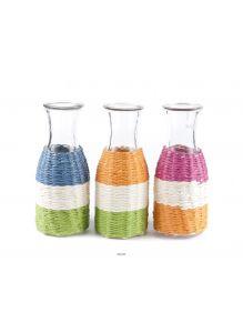 Бутылка стеклянная декоративная 210 х 80 мм (код 285195)