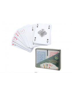 НАБОР КАРТ ИГРАЛЬНЫХ в пластмассовой коробке 2 колоды по 56 карт (код 220401)