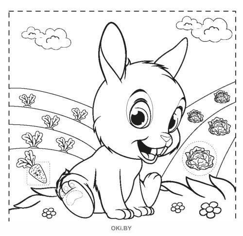 Хвостатая раскраска № 1 . Раскраска с наклейками «Играю! Рисую! Фантазирую!»