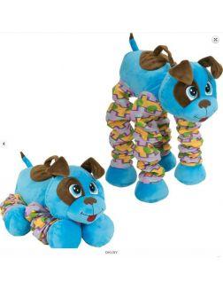 Мягкая игрушка «Пружиножки. Голубой Щенок со звуком» (20 х 36 х 23-58 см, Т13878)