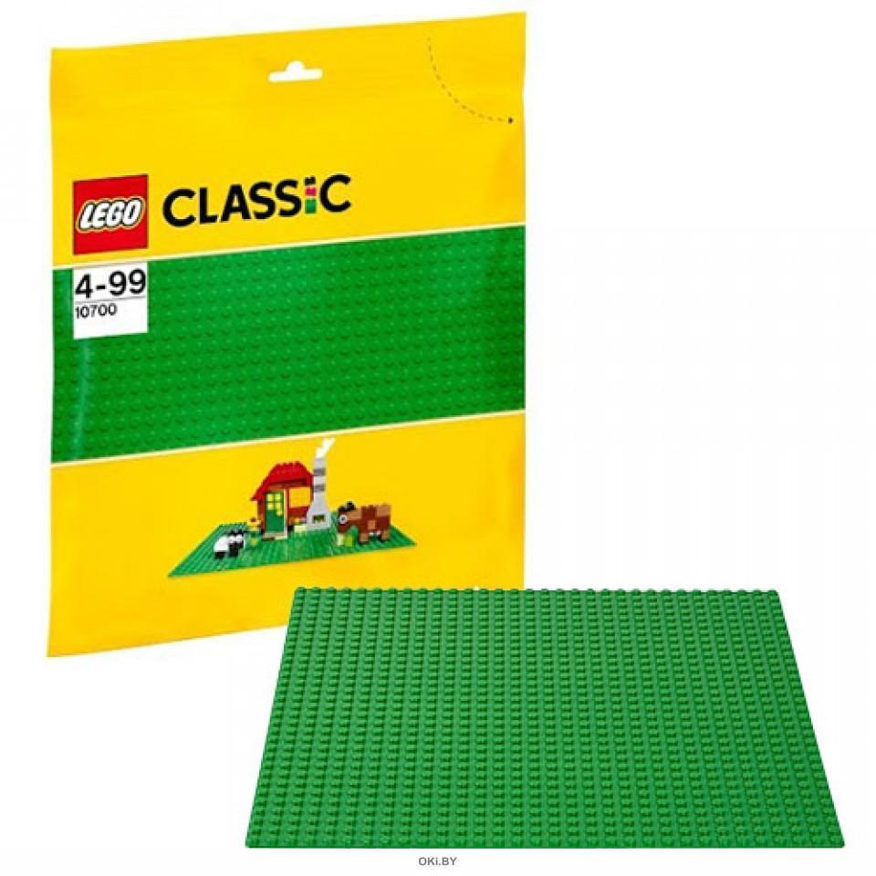 Строительная пластина цвет зеленый Конструктор (Лего / Lego classic)