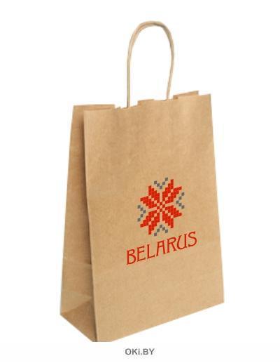 Пакет крафт «BELARUS ARNAMENT» бумажный A4 , Размер 24*32*11 см