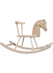 Игрушка деревянная «Лошадка - качалка» (ЛК1, ширина сиденья: 180 мм, размер качалки: 300х830х440 мм)