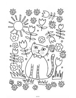 Кототерапия. Мини-раскраска-антистресс для творчества и вдохновения. (eks)