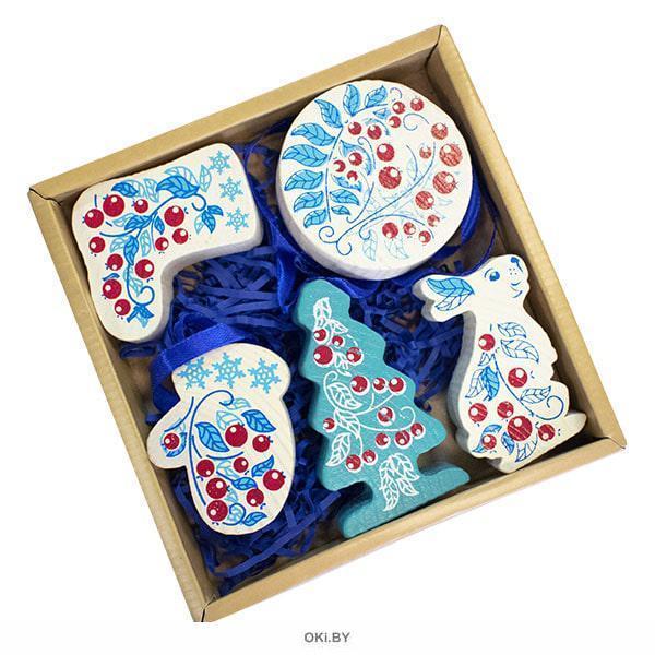 Зимняя ягода (5 дет. ) Набор елочных игрушек (Арт. 2015-1)