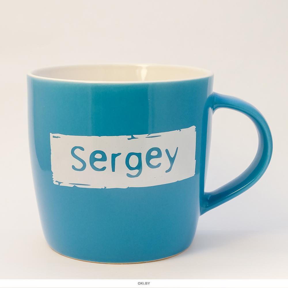 Кружка керамическая с лого SERGEY
