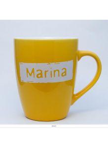 Кружка керамическая с лого MARINA