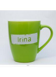 Кружка керамическая с лого IRINA