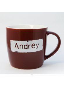 Кружка керамическая с лого ANDREY