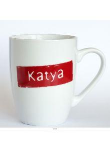 Кружка керамическая с лого  KATYA