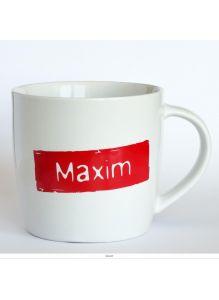 Кружка керамическая с лого MAXIM