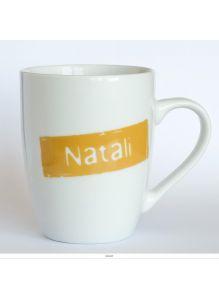Кружка керамическая с лого NATALI