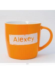 Кружка керамическая с лого ALEXEY