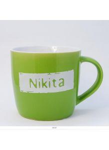 Кружка керамическая с лого NIKITA