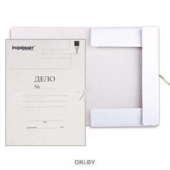 Папка с завязками inФОРМАТ ДЕЛО А4 белый картон мелованный 320 г/м2 (eks)