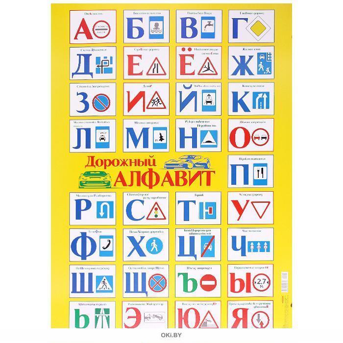 Плакат А2 Дорожный алфавит