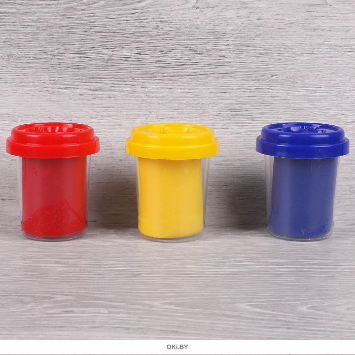 Тесто для лепки 3 цвета «Darvish» каждый цвет в отдельном стаканчике