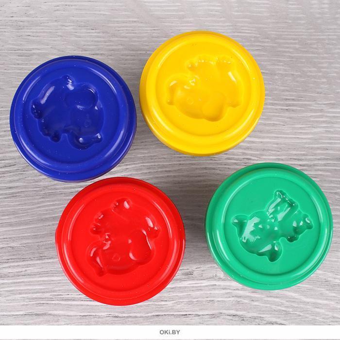 Тесто для лепки 4 цвета «Darvish» каждый цвет в отдельном стаканчике