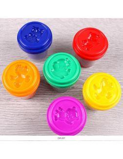 Тесто для лепки 6 цветов «Darvish» каждый цвет в отдельном стаканчике