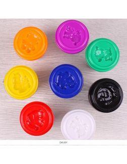 Тесто для лепки 8 цветов «Darvish» каждый цвет в отдельном стаканчике