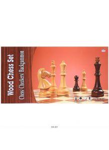 Игра 3 в1 Шахматы,шашки,нарды 49,5*49,5см (деревянные)