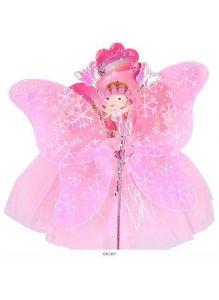 Карнавальный набор «Бабочка» 4 предмета (юбочка, волшебная палочка, ободок, крылышки)