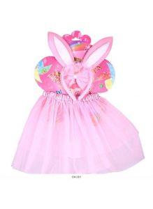 Карнавальный набор «Зайчик» 3 предмета (ободок с ушками, бантик, юбочка) цвет ассорти