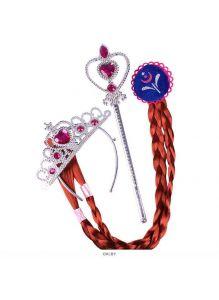 Карнавальный набор «Красавица» 3 предмета (коса, волшебная палочка, корона) цвет ассорти