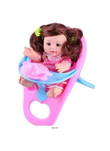 Кукла в стульчике + посуда в наборе (арт. DV-T-1880)