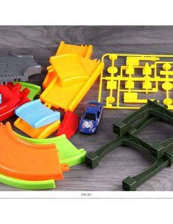 Набор «Супер трек» 30 предметов + 1 машинка. Игрушка