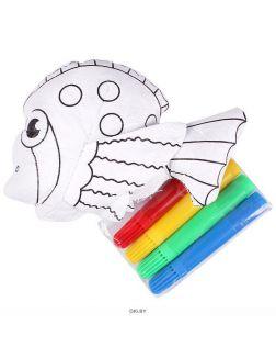 Разукрашка объёмная смываемая «Рыбка» (с фломастерами)