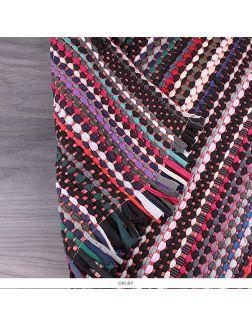 Коврик напольный тканевый плетеный 43*68см