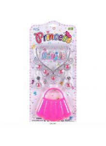 Набор для девочки (ожерелье, клипсы, сумочка)