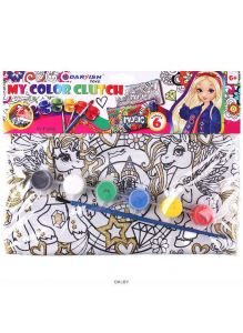 Набор для детского творчества «Клатч-пенал раскраска» ассорти