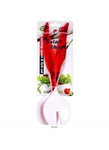 Ложка и вилка салатные полимерные в наборе 2шт