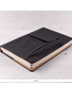 Ежедневник А5 недатиров. 168л «Darvish» обложка к/з чёрная