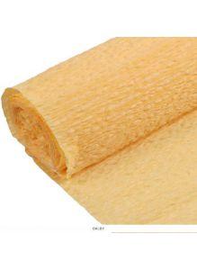 Бумага гофрированная поделочная 50*200см желтая «Darvish»