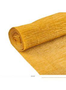 Бумага гофрированная поделочная 50*200см золотая «Darvish»