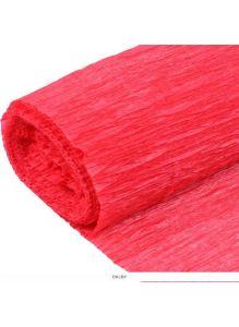 Бумага гофрированная поделочная 50*200см красная «Darvish»