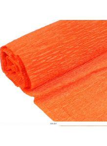 Бумага гофрированная поделочная 50*200см морковная «Darvish»