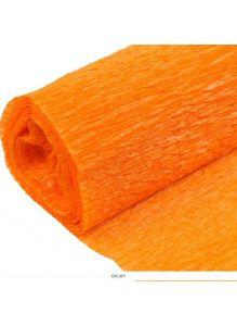 Бумага гофрированная поделочная 50*200см оранжевая «Darvish»