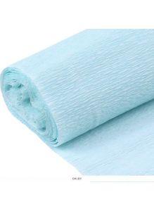 Бумага гофрированная поделочная 50*200см светло-голубая «Darvish»