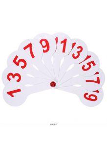 Веер цифры 1-20 (касса) РБ